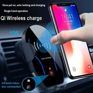 Coutlet Qi Wireless Fast Charger Car Mount Automatic Infrared Sensor Charging Pad