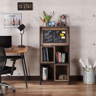 Furniture of America Duni Rustic Oak 3-shelf Bookcase