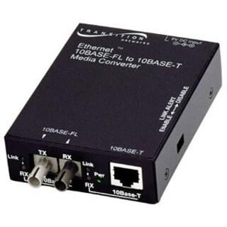 Transition Networks E-TBT-FRL-05 10BASE-T to 10BASE-FL Ethernet Media