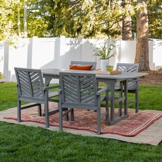 Hydaburg 5-piece Outdoor Extension Dining Set by Havenside Home