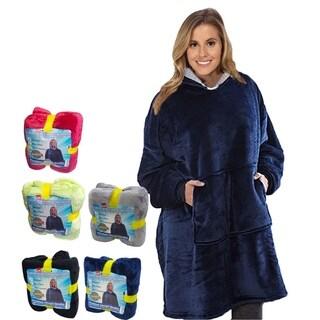 Comfy Hoodie Sherpa - Oversized Blanket Sweatshirt - Hooded, Large Pocket, Reversible - Warm and Luxurious Plush