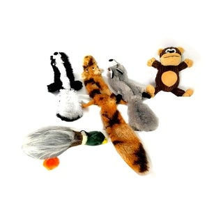 ALEKO Puppy Dog Soft Toys with Removable Squeakers Set of 5