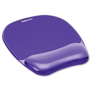 Fellowes Gel Crystals Mousepad/Wrist Rest - Purple