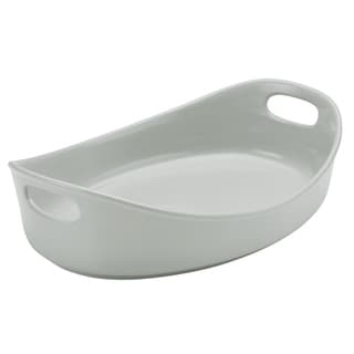 Rachael Ray Stoneware Bubble and Brown 4.5-Quart Oval Baker
