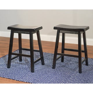 Belfast 24-inch Saddle Stool (Set of 2)