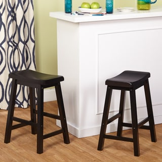 Simple Living Belfast 24-inch Saddle Stool (Set of 2)