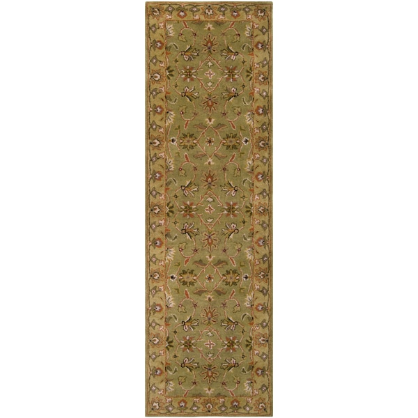 "Hand-Tufted Camelot Collection Traditional Wool Rug (2'6"" x 8')"