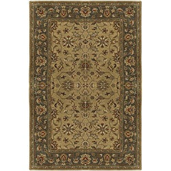 Hand-tufted Camelot Green Wool Rug (8' x 11')