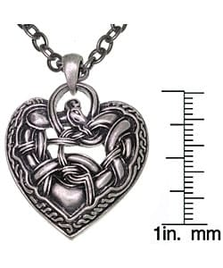 CGC Celtic Dragon Heart Pewter Necklace