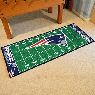"New England Patriots Super Bowl LIII Champions Football Field Runner 30""x72"" - 2'6"" x 6' Runner"