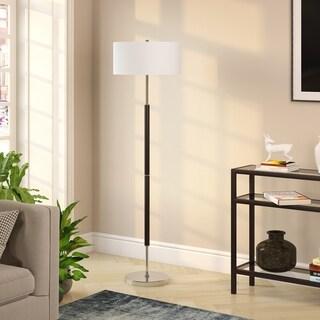 Silver Orchid Gotho Matte Black/ Polished Nickel Floor Lamp
