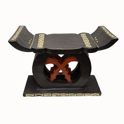 Handcrafted Asante Royal Stool (Ghana)