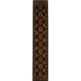 Handmade Heritage Mahal Black Wool Runner (2'3 x 10')