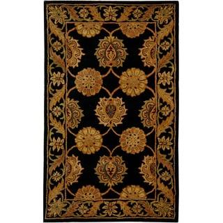 Safavieh Handmade Heritage Mahal Black Wool Rug (3' x 5')