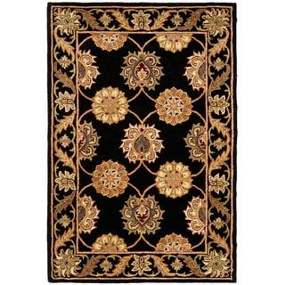 Safavieh Handmade Heritage Mahal Black Wool Rug (4' x 6')