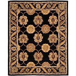 Safavieh Handmade Heritage Mahal Black Wool Rug (7'6 x 9'6)
