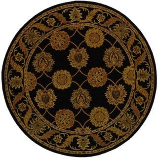 Safavieh Handmade Heritage Mahal Black Wool Rug (8' Round)