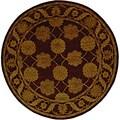 Safavieh Handmade Heritage Mahal Red Wool Rug (8' Round)