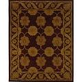 Handmade Heritage Mahal Red Wool Rug (8'3 x 11')