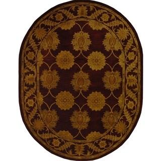 Safavieh Handmade Heritage Mahal Red Wool Rug (7'6 x 9'6 Oval)