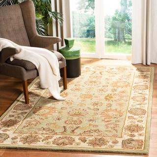 Safavieh Handmade Heritage Kerman Green/ Gold Wool Rug (3' x 5')