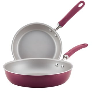 Rachael Ray Create Delicious Aluminum Nonstick Twin Pack Skillets
