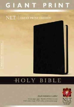 Holy Bible: New Living Translation, Black, Imitation Leather, Classic Text Edition, Giant Print (Paperback)