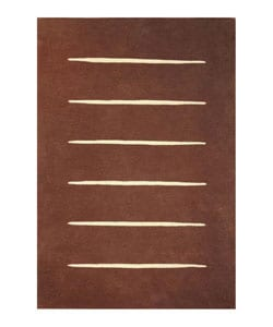 Hand-tufted Wool Steps Rug (8' x 10'6)