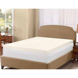Serta 4-inch Memory Foam Mattress Topper with Two Bonus Contour Pillows
