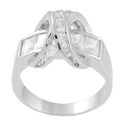 Journee Collection Sterling Silver Polished CZ Fashion Ring
