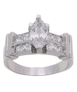Tressa Sterling Silver CZ Marquise Engagement Ring