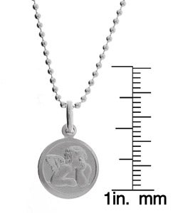 Sterling Essentials Sterling Silver 18-inch Raphael Guardian Angel Necklace