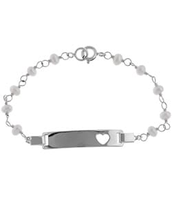 Sterling Essentials Sterling Silver 5.5-inch Freshwater Pearl Child's Bracelet