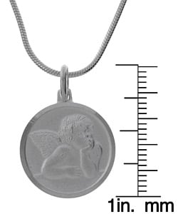 Sterling Essentials Sterling Silver 24-inch Raphael Guardian Angel Necklace