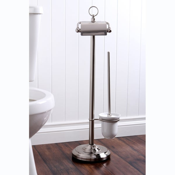 Pedestal Satin Nickel Paper Holder