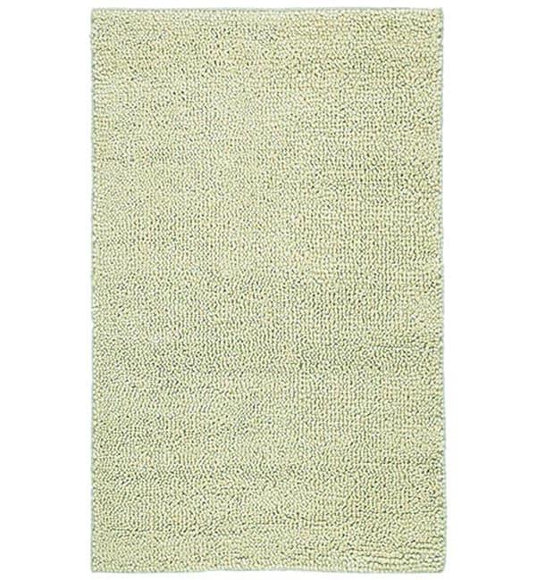 Hand-woven Shaggy Ivory Wool Rug (5' x 8')