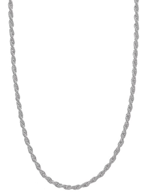 Sterling Essentials Sterling Silver 1.5mm Diamond-Cut Rope Chain (18-inch)