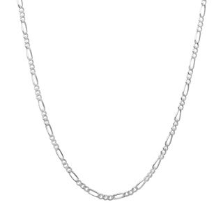 Sterling Essentials Sterling Silver 2mm Figaro Chain (18-inch)
