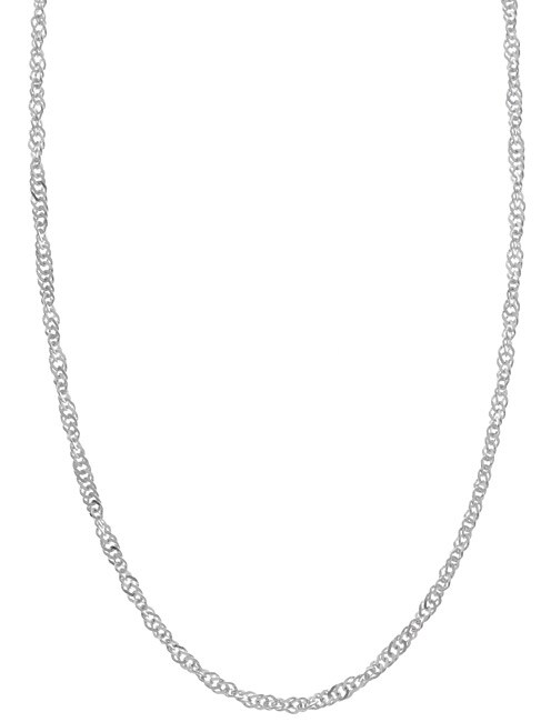 Sterling Essentials Sterling Silver 16-inch Singapore Chain (2mm)