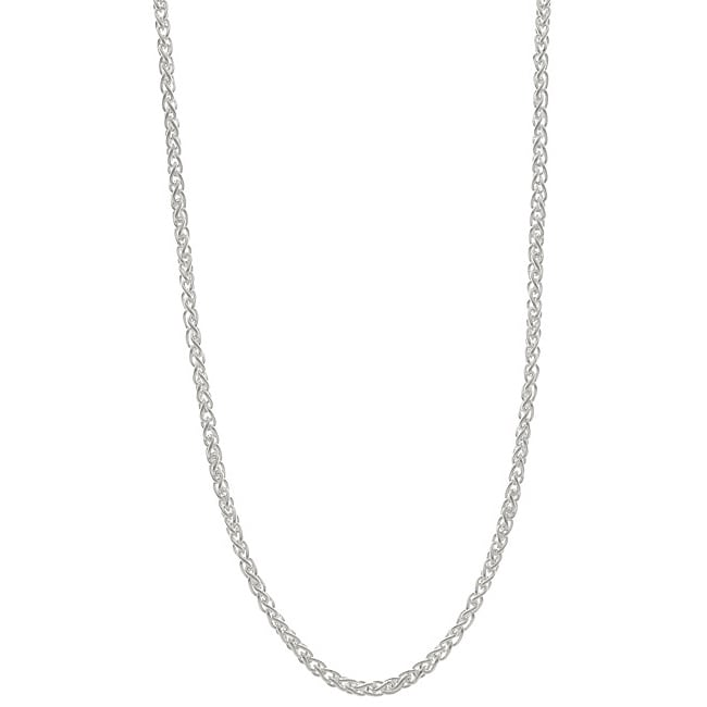 Sterling Essentials Sterling Silver 1.5mm Italian Wheat Chain (16-inch)