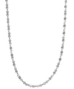 Sterling Essentials Sterling Silver 1.5mm Twist Serpentine Necklace (16-inch)