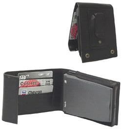 Black Leather Prestige Handheld Case