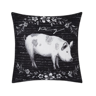 Rustic Farm Pig Indoor/Outdoor 18x18 Throw Accent Decorative Accent Throw Pillow