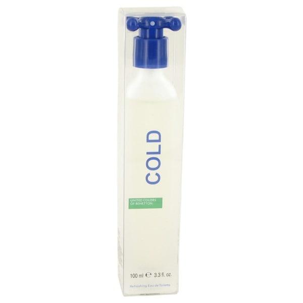 Benetton Cold Men's 3.4-ounce Eau de Toilette Spray