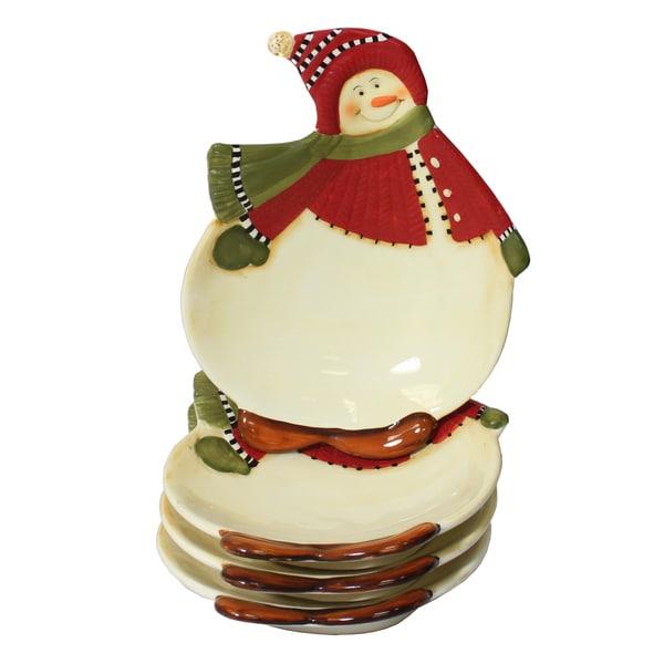 Snowman Delight Hors D'oeuvre/ Dessert 4-piece Set