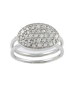 Tressa Sterling Silver Oval Shape CZ Ring