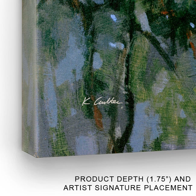Gallery Direct Angeli Abstracted Nature II Wrapped Canvas Art