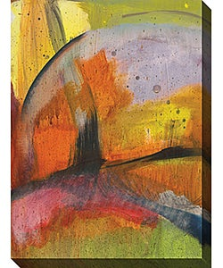Angeli Abstracted Nature II Wrapped Canvas Art