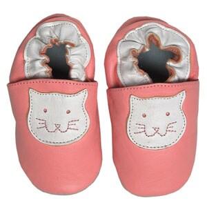 Papush Pink Cat Infant Shoes