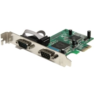 StarTech.com 2 Port PCI Express RS232 Serial Adapter Card with 16950